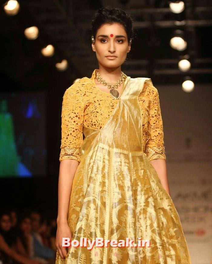 Kanishtha Dhankar, Indian Female Models in Saree - Lakme Fahsion Week Ramp Walk