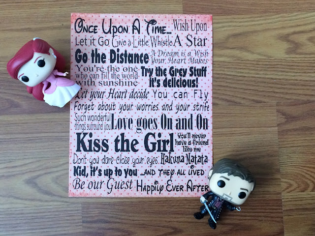 "All I need to know in life I learned from a Disney song.  Get this free printable for your home or party and always remember to ""go the distance"", ""kiss the girl"", and ""let your heart decide."""