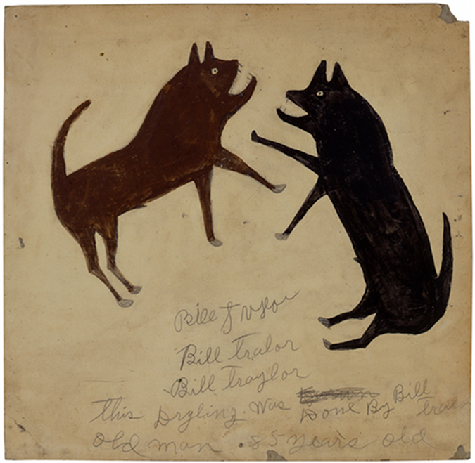Dogfight with Writing by Bill Traylor, on Notes from the Pack