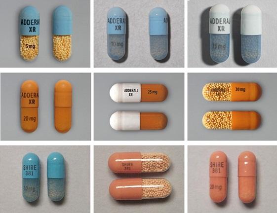 Adderall XR usos, efectos secundarios, interacciones, imágenes, advertencias y dosis