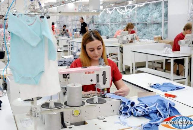 Industria ligera lidera exportación de Armenia