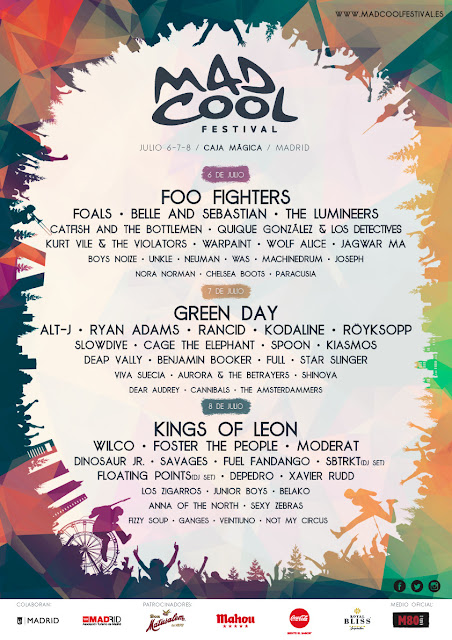 Mad Cool, 2017, Festival, Madrid, Música, cartel