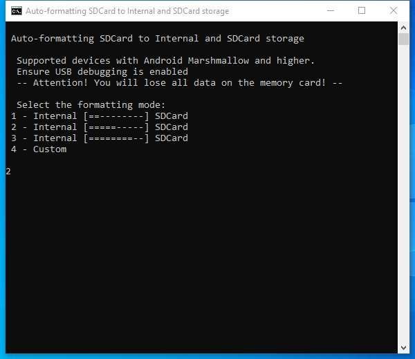 Auto-formatting SD Card to Internal and SD Card Storage
