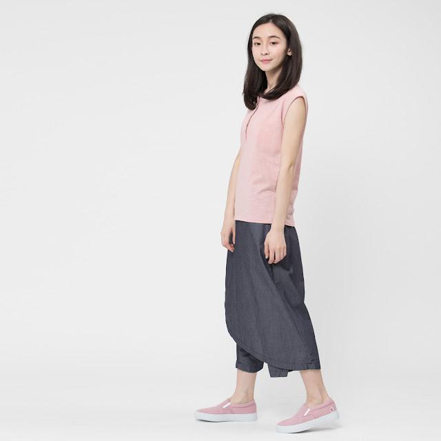竹節棉小蓋袖半開襟上衣