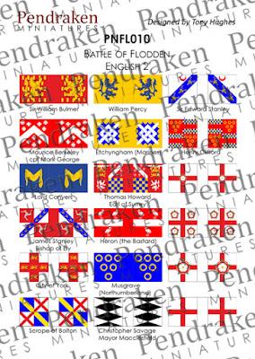 PNFL010 - Flodden English, sheet 2 (18 flags)
