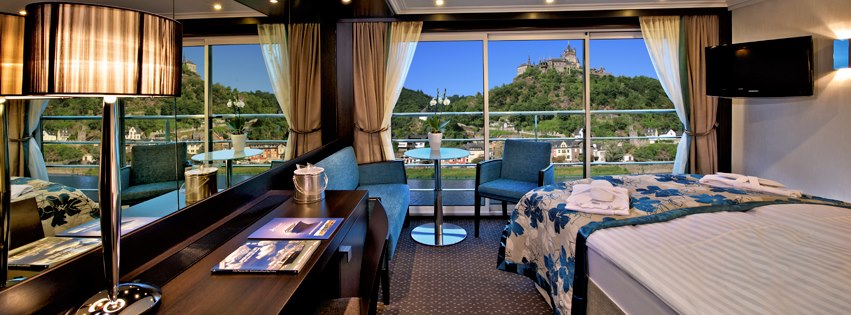 Panorama Suite interior on board Avalon Waterways. Photo: © Avalon Waterways. Unauthorized use is prohibited.