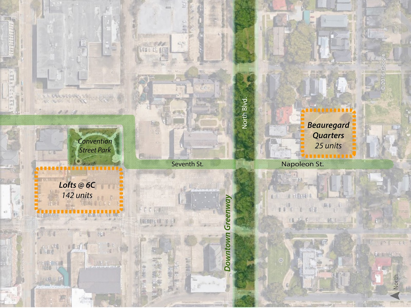 now that this connection has been highlighted we want to improve the experience for bikers and pedestrians from spanishtown to beauregard