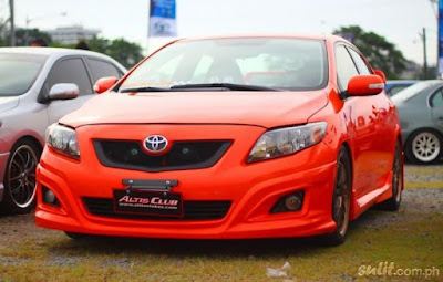 Toyota Corolla Altis Orange