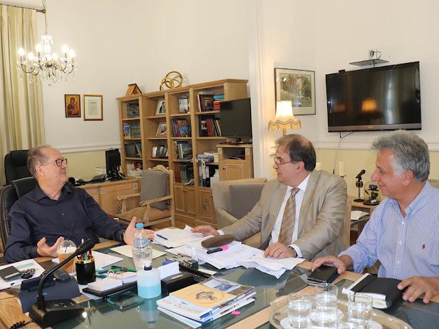 Συνάντηση του Π. Νίκα με τους δημάρχους  Ερμιονίδας και  Ξυλοκάστρου – Ευρωστίνης