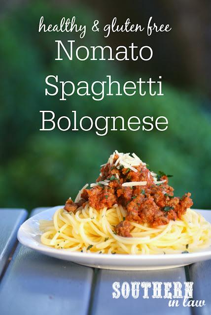 Gluten Free Nomato Spaghetti Bolognese Recipe - tomato free pasta recipes, low fat, gluten free, nightshade free, healthy spaghetti bolognaise recipe