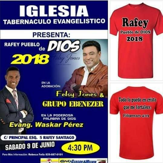 Rafey de Santiago de los Caballeros será  impactado por la presencia de Dios  en la segunda versión del evento ¨Rafey Pueblo de Dios¨