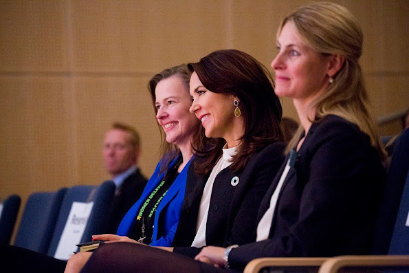 Crown Princess Mary opens Women Deliver Conference 2016 at Bella Center in Copenhagen. Crown Prince Frederik, Crown Princess Mette-Marit, Princess Benedikte and Princess Mabe