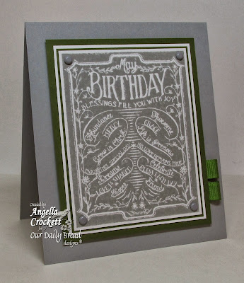 "ODBD ""Chalkboard - Birthday and Thank You"" Card Designer Angie Crockett"