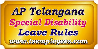 AP Telangana Special Disability Leave Rules for Teachers and Employees while on road accident special disability leave for AP and Telangana Employees