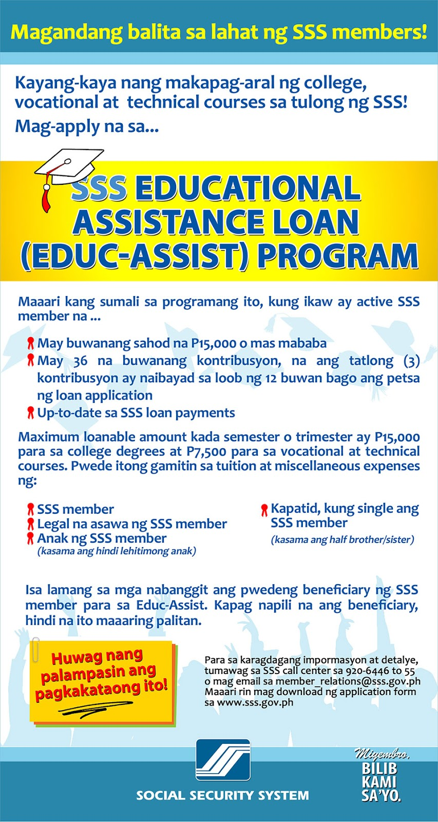 Make Today Count: The SSS Educational Loan