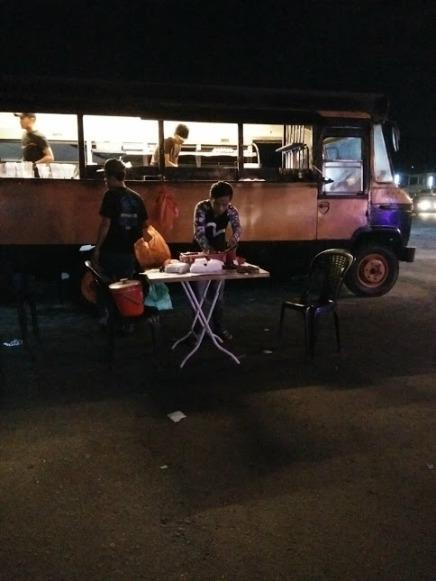 Char kuey teow asap bus, Jalan Laksamana Batu Caves