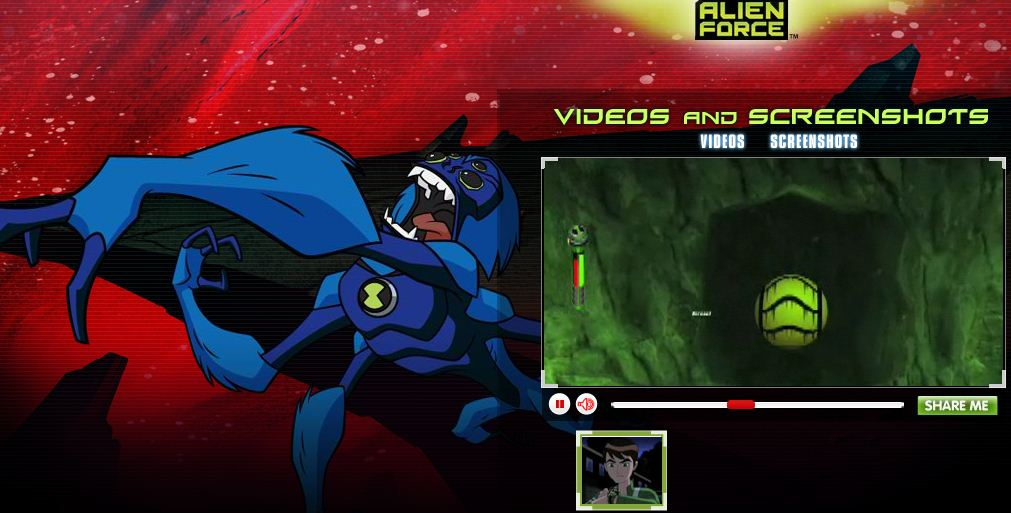 Ben 10 Alien Force Vilgax Attacks Game