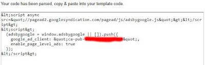Cara Praktis Memparse Kode Iklan Google Adsense di Blogcrowds Cara Merubah (Parse) Kode Iklan  Google Adsense di Blogcrowds