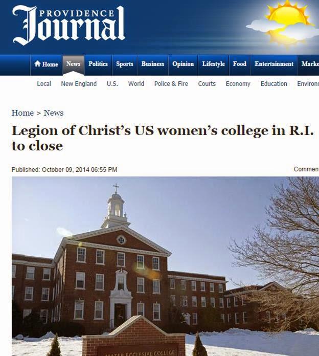 College History Garden: Mater Ecclesiae College in RI Closing