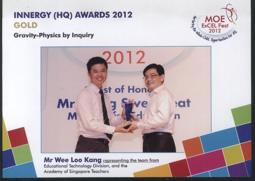 Innergy Award Gold 2012 Gravity Physics by Inquiry - Open