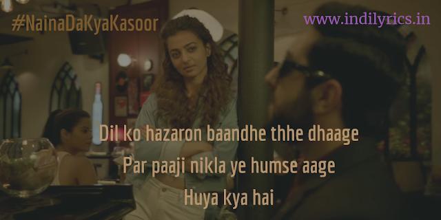Naina Da Kya Kasoor | AndhaDhun | full Audio Song Lyrics with English Translation and Real Meaning | Amit Trivedi