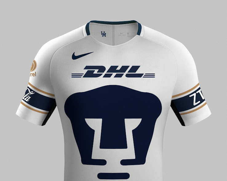 quality design 06952 e9a05 Outstanding Pumas UNAM 17-18 Home and Away Kits Revealed ...