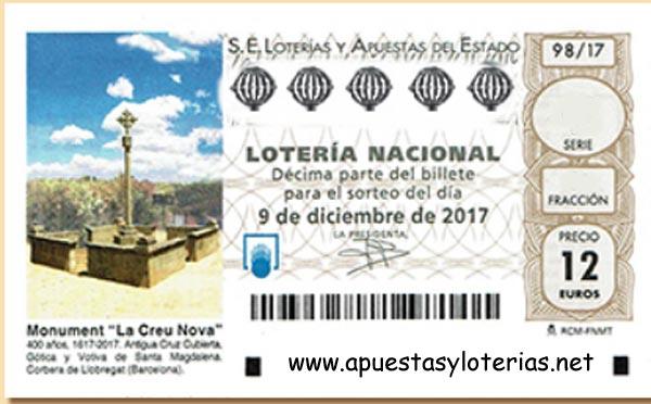 loteria nacional del sabado 9 de diciembre de 2017