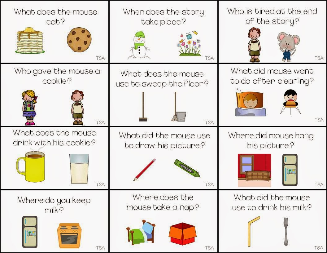 Worksheets If You Give A Mouse A Cookie Worksheets the speech attic if you give a mouse cookie