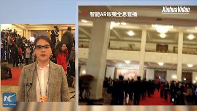بالفيديو: وكالة الأنباء الصينية تكشف عن نظارات ذكية لنقل فعاليات البث الحي