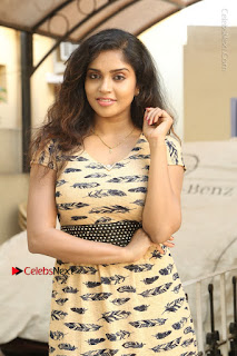 Telugu Actress Karunya Chowdary Stills in Short Dress at ATM Not Working Press Meet  0010.jpg