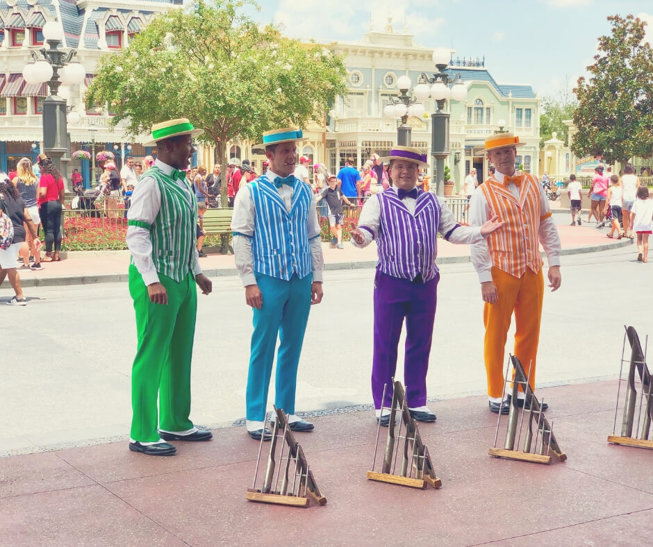 Top 7 Things You Should Do At Magic Kingdom, Walt Disney World | See the Dapper Dans sing at the entrance to Magic Kingdom.