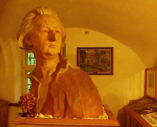 Popiersie Emila Zegadłowicza.