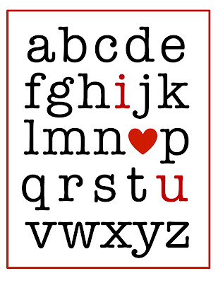 Valentine Alphabet Love printable @michellepaigeblogs.com