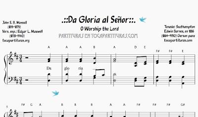 Da Gloria al Señor Partitura de Piano Fácil