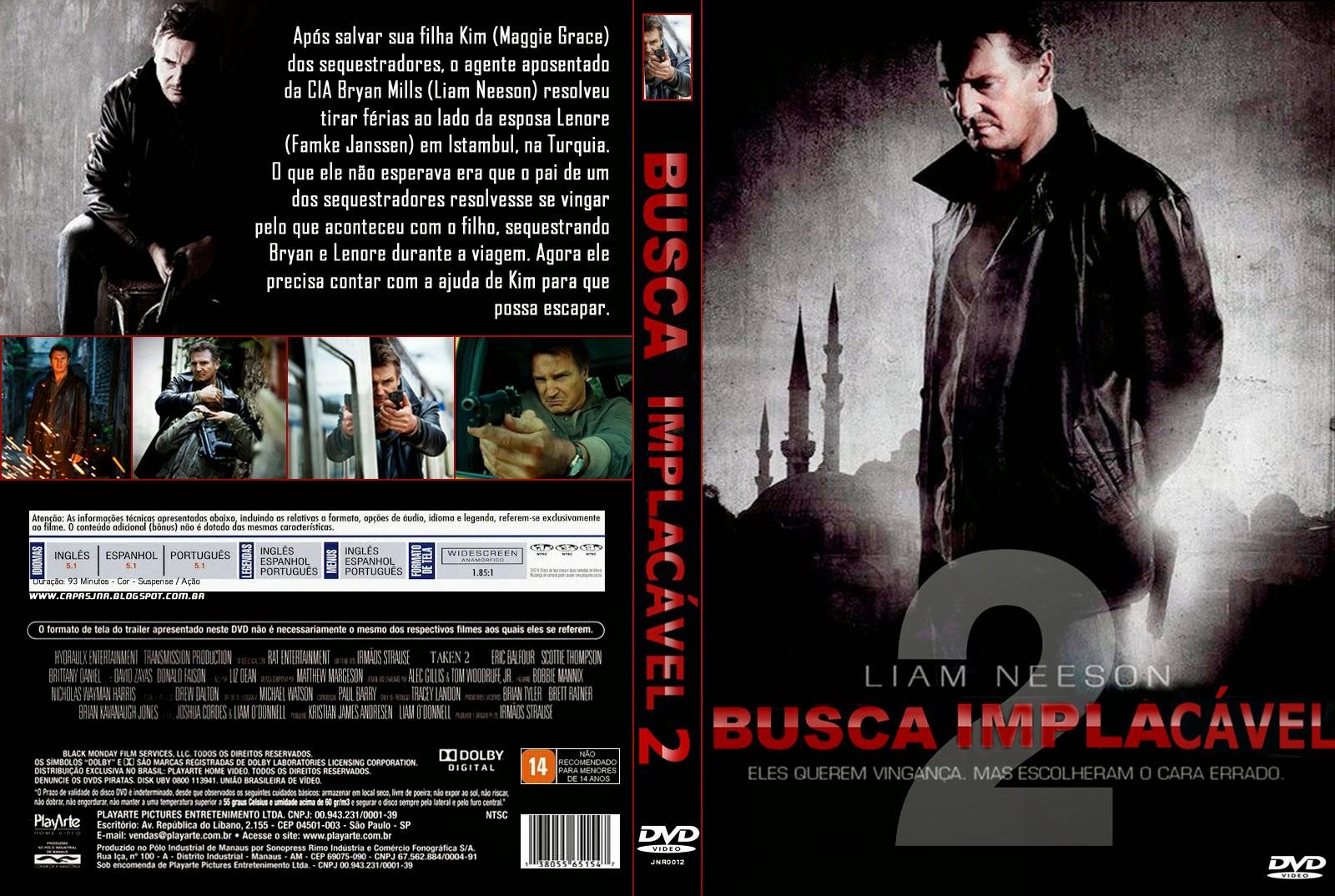 Busca Implacável 2 DVD Capa