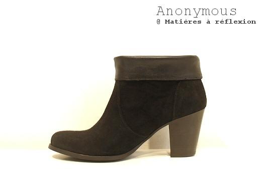 SOLDES boots Tara noires Anonymous