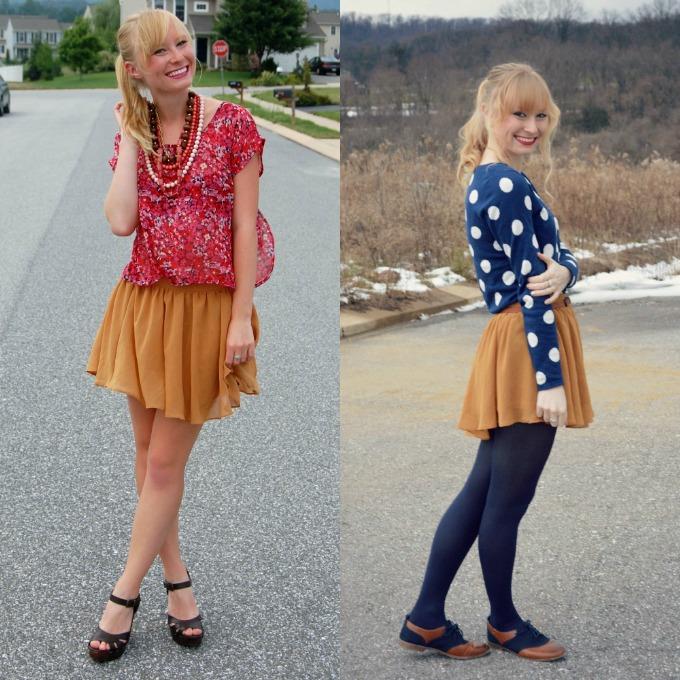 Style Remix: Mustard Skirt | Organized Mess