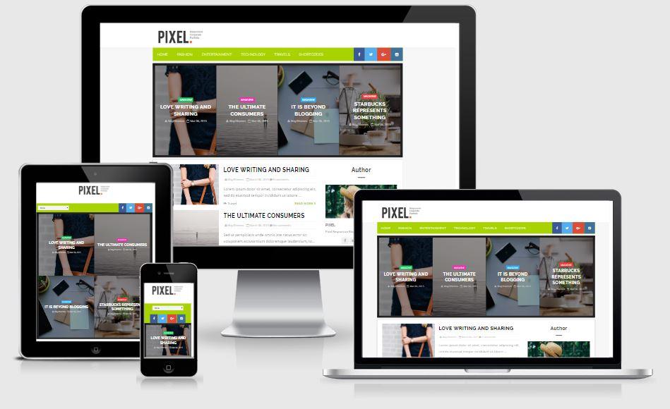 Pixel Template Blogger Responsive