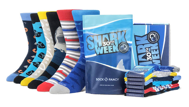 Shark Week 2018 Sock Fancy Socks 01