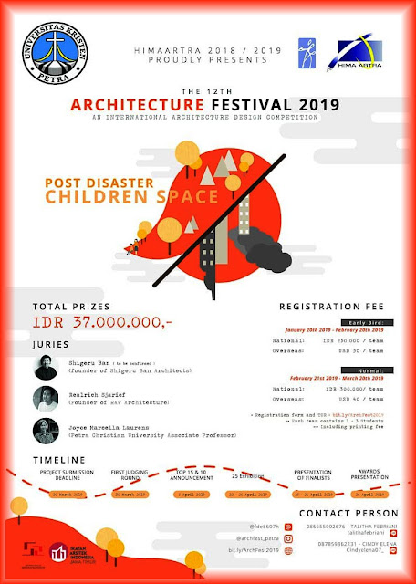 "The 12th Architecture Festival 2019 ""Post Disaster Children Space"""