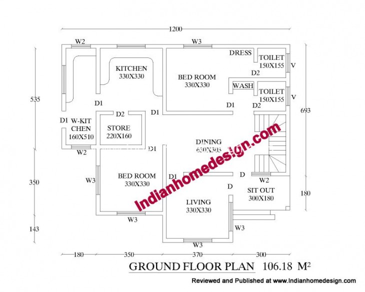 3 bhk house plans in india - Home design and style