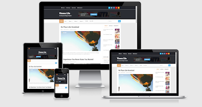 Top 10 Template Blog Responsif 8. Vienna Lite Responsive Blogger Template