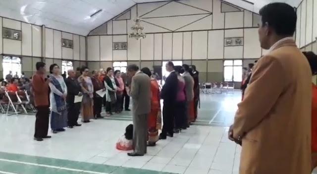 Pelantikan Pengurus Punguan Pomparar Raja Sitolngo Siahaan (Raja Hinalang) Boru, Bere, Ibebere Bandung Cimahi Sekitarnya Periode 2018 - 2021 oleh Dewan Penasehat