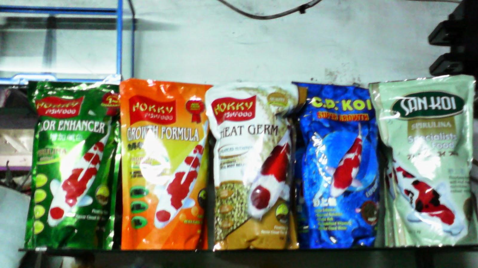 Jenis-jenis makanan ikan Koi