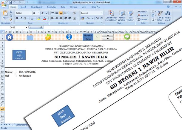 Aplikasi Cetak Amplop Surat dengan Microsoft Excel