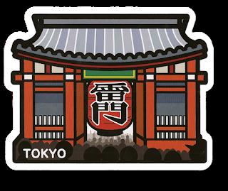 gotochi postcard kaminarimon tokyo
