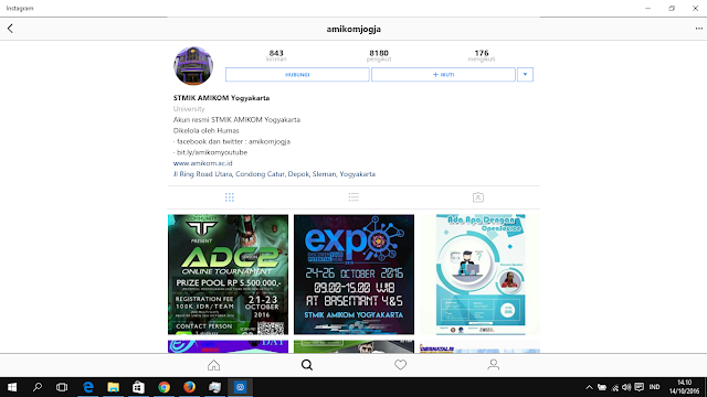 Instagram for PC Windows 10