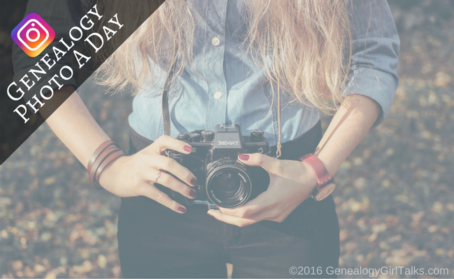 Join the Genealogy Photo A Day Challenge on Instagram by Genealogy Girl Talks