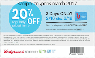 Walgreens coupons march 2017