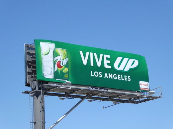 7UP soda Vive Up billboard